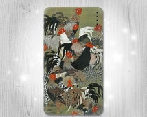 Ito Jakuchu Rooster Gadget Personalized Tech Gift Usb Portable External Battery Charger Pack for Cell Phone Power Bank