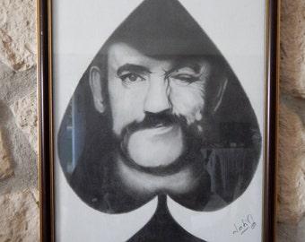 """Lemmy Kilmister portrait, """"Ace of Spades"""""""