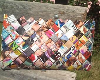 Evening handbag/Magazine bag/Fashion clutch bag/Magazine clutch/Magazine handbag/Evening clutch/Eco friendly bag/Fashion bag/Handmade bag