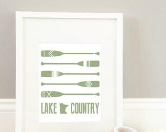 Lake Country Print // Minnesota Lakes Print // Cabin Wall Decor // Lake Home Decor // Wall Print // Lake Home Decor // Lake Cabin Art