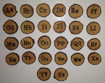 Uppercase/Lowercase alphabet magnet set
