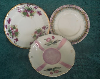 Vintage Saucers; Vintage China; Japanese Porcelain; German Porcelain; Vintage Porcelain
