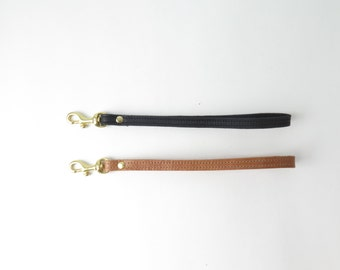 Leather Wrist Strap for Clutch, Leather Wristlet, Key Fob, Key Chain, Strap for Keys
