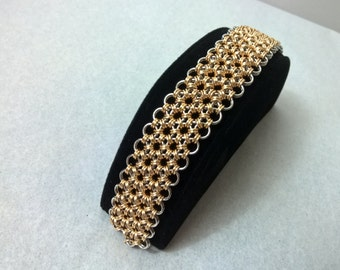 Japanese 12-in2 Silver and Gold Bracelet