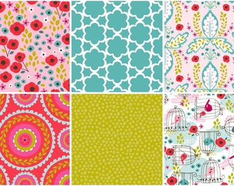SALE! Chirpee Magee Fabric Collection - 10 Piece Fat Quarter Fabric Bundle from 3 Wishes Fabrics
