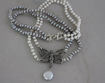 Enchanting Fairy Multi Strand Fresh Water Pearl Necklace