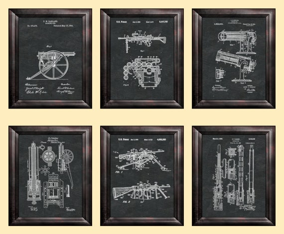 Usaf Wall Decor : Gun print machine wall art military decor veterans gift