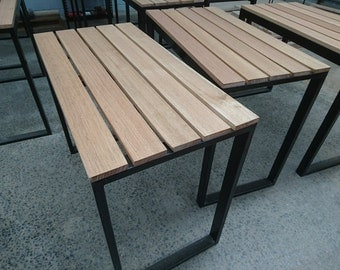 Outdoor Timber and Steel table