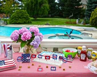 4th of July labels - Fourth of July labels - 4th of July tags - Instant Download, hors d'oeuvre parties
