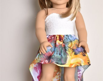 High Low Skirt 18 inch doll clothes
