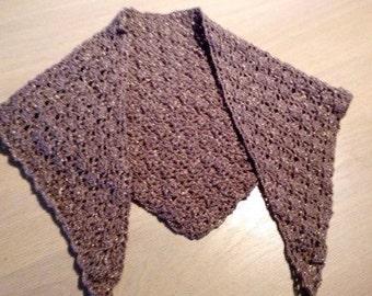 Golden sparkle party shawl - wedding shawl - stole - crochet shawl - handmade shawl - chique stole