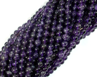Amethyst Beads, 4mm (4.5mm) Round Beads, 15.5 Inch, Full strand, Approx 90 beads, Hole 0.8mm (115054017)