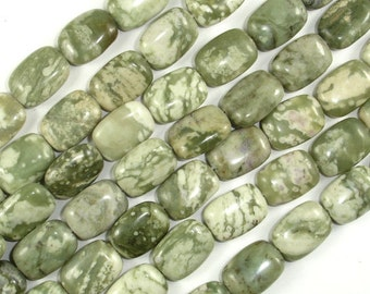 Peace Jade Beads, 10x14mm Rectangle Beads, 15.5 Inch, Full strand, Approx 29 beads, Hole 1mm, A quality (338033001)