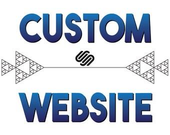 Custom Professional SquareSpace Design - Custom Website Design - Graphic Design