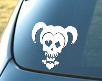 Harley Quinn decal,  Suicide Squad decal, car decal, window decal, laptop decal, cell phone decal, wall decal