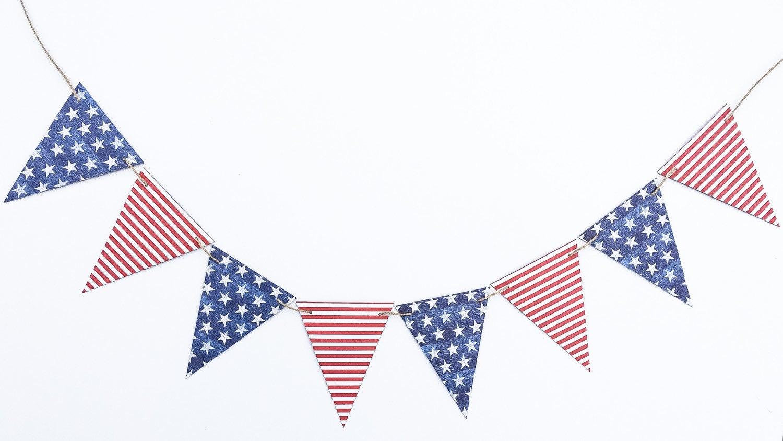 Modern American Flag Banner America Flag Garland American