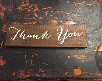 Thank You Sign | Rustic Wedding Sign | Custom Sign