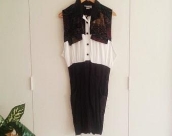 SALE - Vintage Clothing - Romper - Jumpsuit - 80s - 80s Vintage
