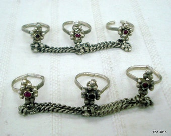 vintage antique tribal old silver toe rings traditional ethnic jewellery