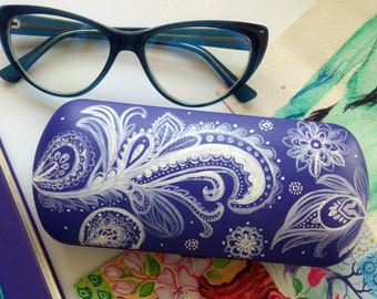 Glasses case Indian pattern - pattern - gift for girlfriend - cute gift - sunglasses case