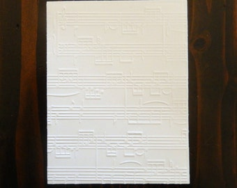 Music Notes, Muice Sheets Embossed Cardstock, Embossed Sheets, Embossed Card Fronts