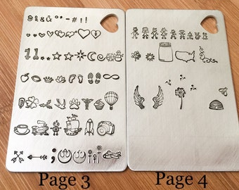 Font and Design Stamp examples availlable