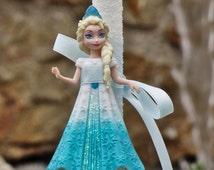Greek Easter candle (lampada) with Princess Elsa Frozen
