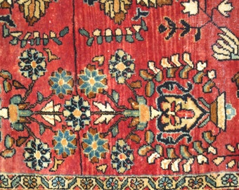 Antique Persian Sarouk Rug Size 3'5''x5'