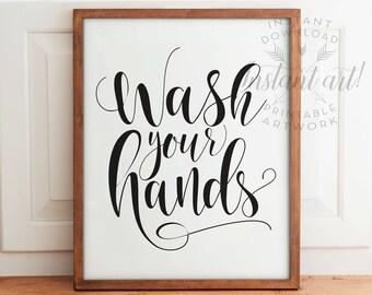 Bathroom Signs Wash Your Hands wash your hands printable bathroom art funny wall artyou