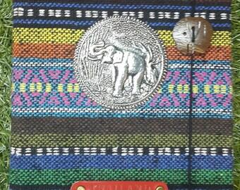 Personalised / Customized Boho Fabric Handmade Journal / Diary / Notebook