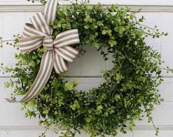 Boxwood Wreath, Spring Wreath, Summer Wreath, Year Round Wreath, Everyday Wreath, Wedding Decor, Outdoor Wreath, Wreath for Door, Wreaths