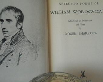 William Wordsworth Poems 1960s Vintage Book