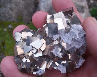 Pyrite*Quartz Cluster/ Crystal/ Quartz