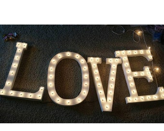 Marquee letters; per 1 letter