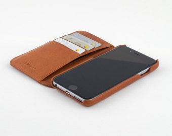 Tan Leather iPhone 6 | 6s Wallet Case.  FREE SHIPPING WORLDWIDE!