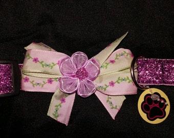 Pink Blingy Dog Collar