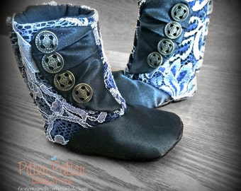 Steam Punk Baby Boots - Victorian Baby Shoes - Baby Gifts -Steampunk Halloween Baby Shoes - Lace Baby Boots - Vintage Baby - Victorian Baby