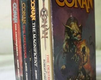 Conan Box Set | Robert Jordan | Vintage Paperbacks | Destroyer, Magnificent, Defender, Unconquered | New Adventures of Conan