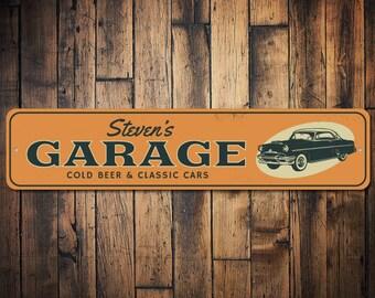 Garage sign etsy for Garage market cars montpellier