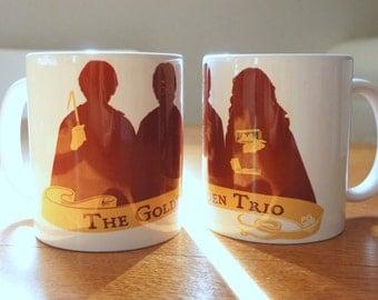 "Mug ""GOLDEN TRIO"" - HP / Harry Potter / Hermione Granger / Ron Weasley / Daniel Radcliffe / Emma Watson / Rupert Grint"