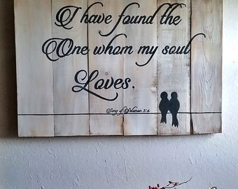 Gift, I have found the one whom my soul love