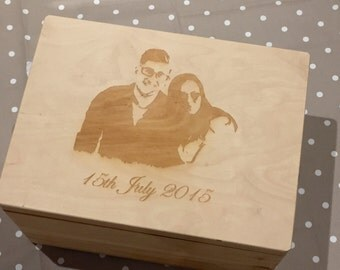 Wedding memory box. Large. Portrait design
