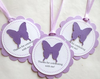 Butterfly Party Favor Tags Purple 8