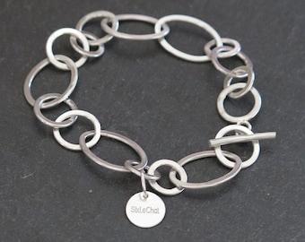 950 massive silver chain bracelet