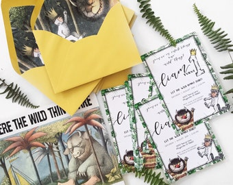 Where The Wild Things Are 1st Birthday Invitation