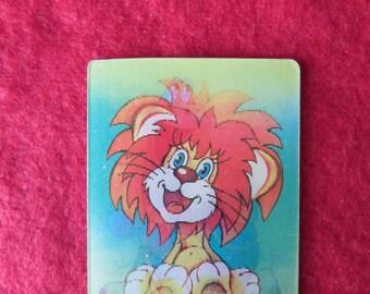 "Vintage Soviet 3D Stereo Pocket Calendar, Soviet Cartoon ""Lion and Tortoise"", Made in USSR in 1984"