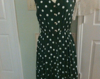 Vintage polka dots 80s dress