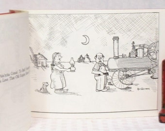 An Album of Iron Men Cartoons by Roy Glessner - SIGNED by the AUTHOR