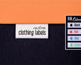Custom Clothing Labels, 150 + 10 EXTRAS, Thermal Printed Fabric Labels, Satin Sewing Tags, Custom Garment Tags, Sew In Labels, Care Labels
