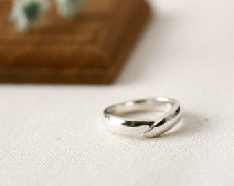 Overlap Ring 925 Sterling Silver Modern Ring Jewelry